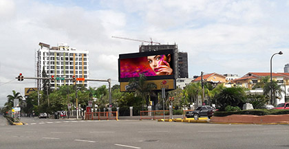 Valla digital en Santo Domingo